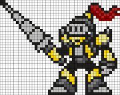 Mega Man Lightningman Lanceman Perler Bead Pattern / Bead Sprite