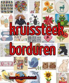 Gratis borduurpatroontjes:  http://www.allesoverborduren.nl