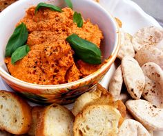 Muhammara (Roasted Red Pepper and Walnut Spread)