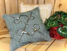 Have old bits laying around? Create a decorative throw pillow! Saddlersrow.com