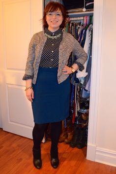 NYC Recessionista: What NYC Recessionista Wears: teal and dots