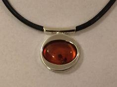 Baltic Amber Pendant Sterling Silver Amber Jewelry. by PMKJewelry