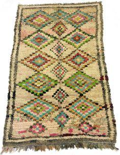 Marockansk Boucherouite-matta 260 x 160 cm