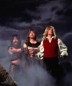 This is Spinal Tap [1984] directed by Rob Reiner, starring Christopher Guest, Michael McKean, Harry Shearer, Rob Reiner, June Chadwick, Tony Hendra, and Bruno Kirby.
