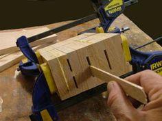 Building a Knife Block http://www.wwgoa.com/plan/building-a-knife-block/ #WWGOA