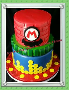 Super Mario Bros Theme Birthday Cake