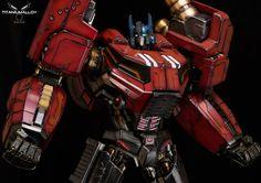 Titanium Alloy Fall of Cybertron Optimus Prime Statue Revealed - Transformers News - Transformers Art, Optimus Prime, Watch V, Card Games, Iron Man, Documentaries, Deadpool, Statue, Superhero