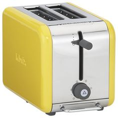 This yellow toaster would look great with Big Chill's original refrigerator in buttercup yellow!
