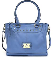 I own this bag and it's a lighter shade of baby blue in person.  Nicole By Nicole Miller nicole by Nicole Miller Casey Triple Pocket Tote