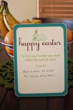 {free printables} Easter Basket Scavenger Hunt