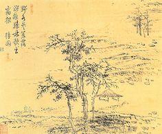 김홍도, 소림야수도, 종이 수묵담채, 21.8x26cm, 간송미술관 소장  김홍도의 말년 작품으로 추정되는 이 작품은 서리가 내리기 전의 적막한 들녘과 낙엽이 거의 진 나무, 초막과 두 사람이 만들어내는 풍경화입니다. 이 무렵 들녁 풍경이 이렇습니다. 다른 게 있다면 시멘트로 된 농로와 전신주 정도. 아주 산골에 가면 이런 풍경을 사진에 담을 수도 있겠네요. 인생무상 혹은 노년의 쓸쓸함을 그린 작품으로 볼 수도 있겠습니다..