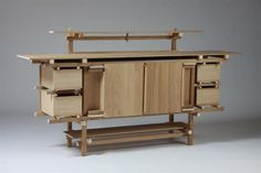 Gerrit Rietveld's Sideboard by Cassina Timber Furniture, My Furniture, Bespoke Furniture, Cabinet Furniture, Modern Furniture, Furniture Design, Chair Tips, Build A Table, Home Goods Decor