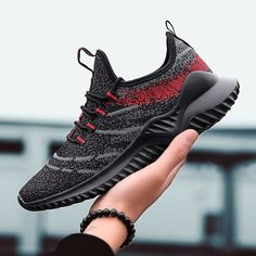 Outdoors men sneakers Trainer Breathable Mesh men's sports running shoes for adults Classical Joker four seasons athletic shoes Cheap Sneakers, Best Sneakers, Black High Top Shoes, All Black Sneakers, Athletic Men, Athletic Shoes, Oxfords, Workout Shoes, Sport Casual
