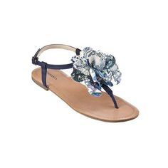 Women's Xhilaration Taryn Flat Sandal with Flower Assorted C... - Polyvore