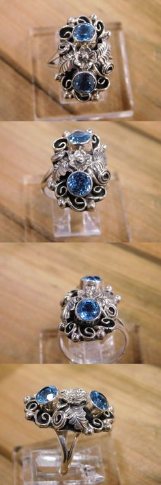 Other Jewelry and Watches 98863: Blue Topaz Sterling Silver Ring Size 7 -> BUY IT NOW ONLY: $81 on eBay!