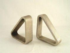 Carl Auboeck Original Workshop Metal Bookends 1950s Aubock Nickel Plated Steel | eBay