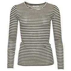 Tshirt, gestreept, wit/grijs/zwart, van Sparkz  shop @ www.madamesheshe.tictail.com