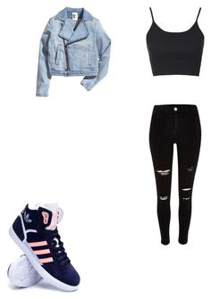 """""""Untitled #374"""" by deisy-santos on Polyvore featuring Topshop, River Island, adidas, women's clothing, women, female, woman, misses and juniors"""