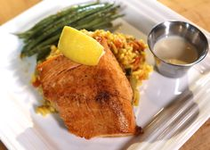 Salmon with Creole Style Rice at Chef John's Place