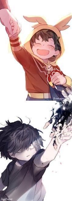 Boku no Hero Academia || Midoriya Izuku || Shigaraki Tomura/Shimura Tenko