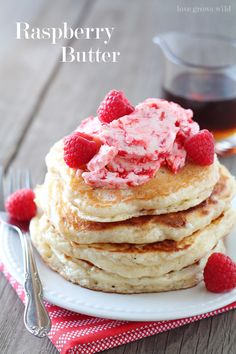 Raspberry Butter - a sweet, delicious spread for your pancakes, toast, and more! | LoveGrowsWild.com @Alyssa {The Recipe Critic}