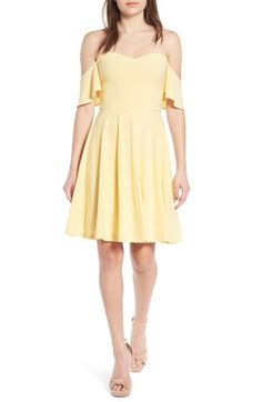 Leith Off the Shoulder Fit & Flare Dress