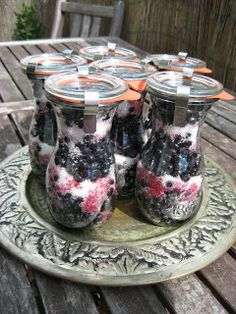 MojeTworyPrzetwory: Jagody na zimę - zasypane cukrem Polish Recipes, Canning Recipes, Chutney, Preserves, Coffee Maker, Berries, Recipies, Brunch, Food And Drink