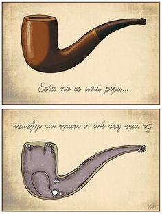 Es una pipa pero no es una pipa. El principito por Antoine de Saint-Exupéry. Autor francés. https://www.facebook.com/AutoraNYRZ