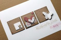 card with different embossed squares