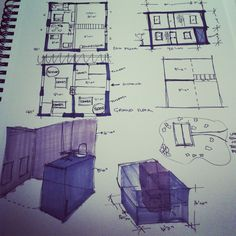 Shipping Container Design Planning Doodles