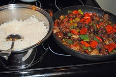 Budget101.com - - Dirt Cheap Easy Sweet and Sour Meatball Stir Fry