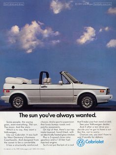 VW Cabriolet - I want this car!