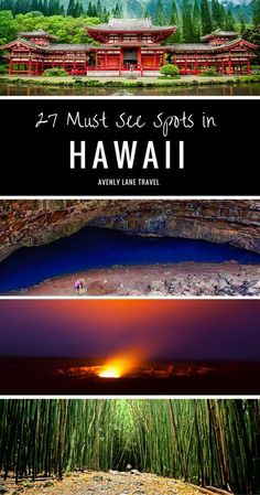 27 Places in Hawaii you have to see on your Hawaiian vacation! See the best on the islands of Oahu, The Big Island, Maui and Kauai. honeymoon 27 Of The Most Incredible Places To Visit In Hawaii Big Island Hawaii, Best Island Vacation, Lanai Island, The Big Island, Visit Hawaii, Oahu Hawaii, Hawaii Life, Hawaii Beach, Hawaii Honeymoon