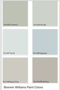 Sherman Williams paint colors