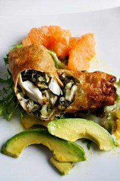Crab Spring Roll With Grapefruit And Avocado