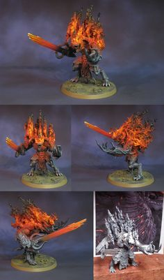 Chaos Space Marines Daemon Prince of the Charred Legion.