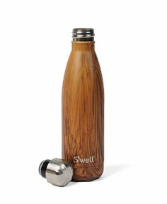 S'well Insulated Stainless Steel 17oz Water Bottle - Wood Collection ... Teakwood