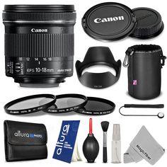 CANON EF-S 10-18MM F/4.5-5.6 IS STM LENS FOR CANON EOS 760D 750D 700D 650D 600D 550D 100D 1200D 1100D Cameras + Accessories