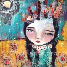 a sense of place. a mixed media painting by juliette crane. http://juliettecrane.com
