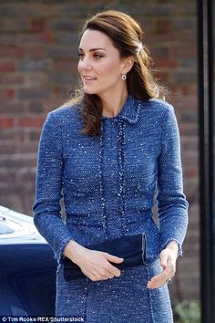 Kate chatted to staff outside the centre, which has just opened its 'home away from home' accommodation for the families of children treated at Evelina