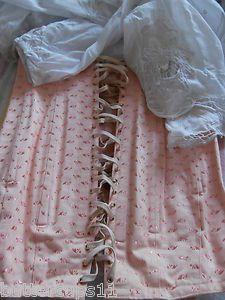 Vintage 1950s corset girdle lace up