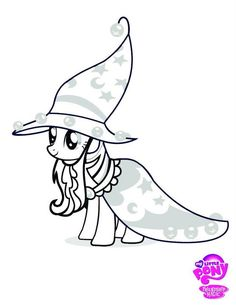 My little pony Halloween coloring pages