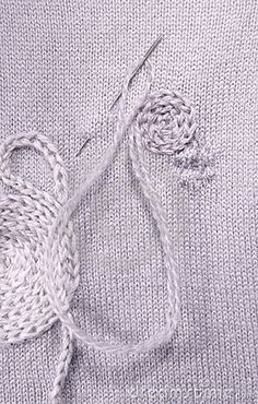 Creative darning. Great idea to sew over those holes that are hard to hide.