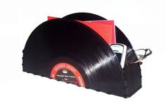 Recycled Record Storage Container Vintage Vinyl by retrograndma, $14.99