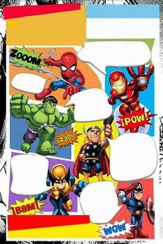 Resultado de imagen de comics superheroes para invitaciones