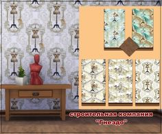 """Sims 3 by Mulena: Wallpaper """"Clothing 1"""" • Sims 4 Downloads"""