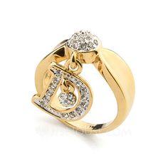 Smykker - $8.99 - Bogstavet Legering med Rhinsten Kvinder Ringe (137048250) http://jjshouse.com/da/Bogstavet-Legering-Med-Rhinsten-Kvinder-Ringe-137048250-g48250
