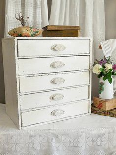 Are you trying to find perfect craft storage ideas to steal? These Craft Room Organization ideas are going to give you a perfectly organized space with ALL of your supplies to hand. Finally.. get your sewing supplies organized & use gorgeous desktop drawers to keep everything close to hand while you are sewing. Sewing organization ideas are the key to keeping your room organized! #organizationideas #craftroom #craftstorage #storage#antique #upcycled #furnitureideas #sewing #craftstudio…
