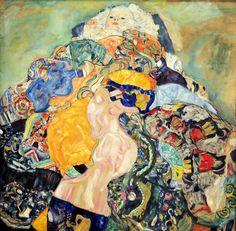 by Gustav Klimt   I love the riot of colour and the baby peeping out on top