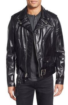 50405ee2b6ec Schott NYC  Perfecto  Slim Fit Waxy Leather Moto Jacket available at   Nordstrom Veste